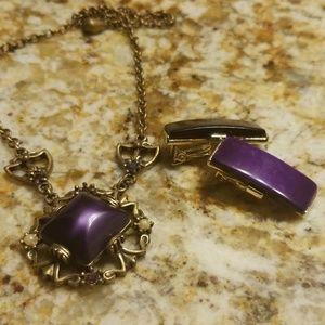 Purple vintage thermostat set PM 693